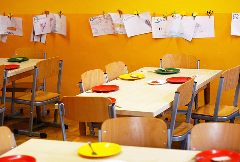 A warm meal shared together for underprivileged children in Germany