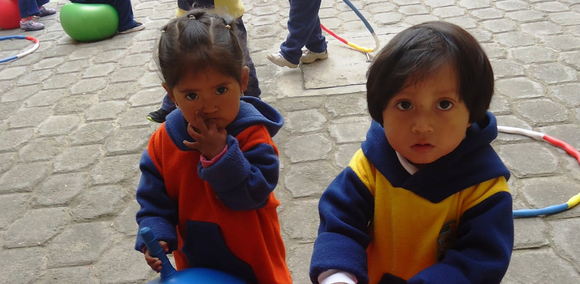 Fundación Sembrar and Cesal offer childcare for children while their mothers are working
