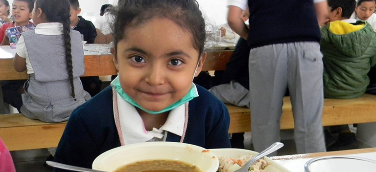 "The ""Feed a Child"" program reaches vulnerable communities in Jalalpa, Hornos and Santa Fe."