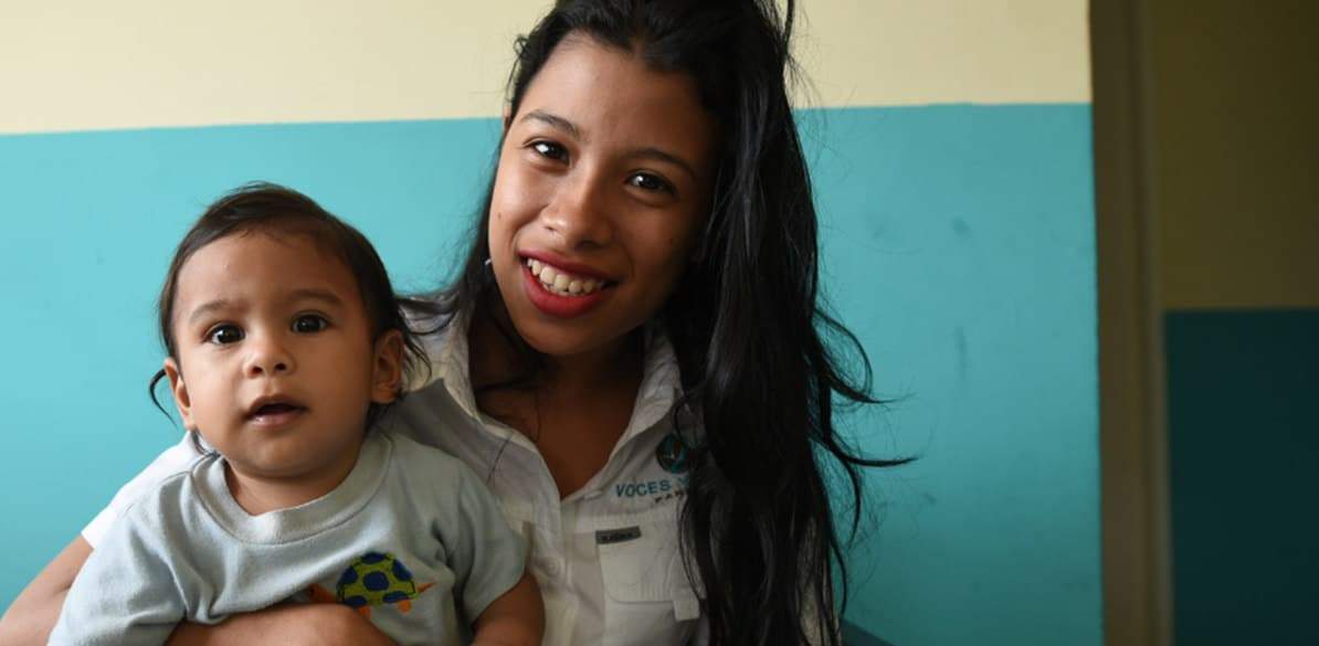 Thanks to Voces Vitales 98 teenage mothers and 98 babies are rebuilding their lives