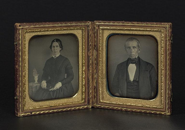 Retratos de una mujer y de un hombre, ca.1840-1860