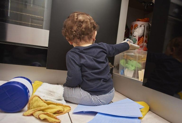 Niños en la cocina: peligro