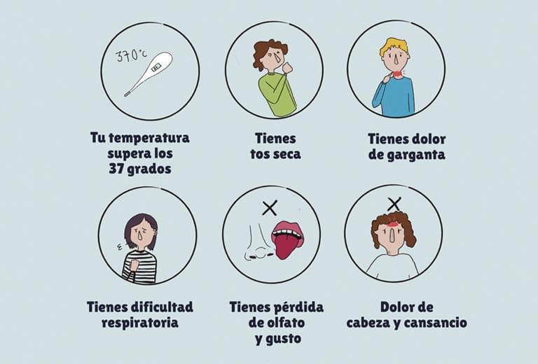 Cartel sintomatología alumnos