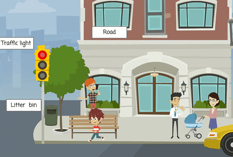 Let's learn English!: how to be a good pedestrian