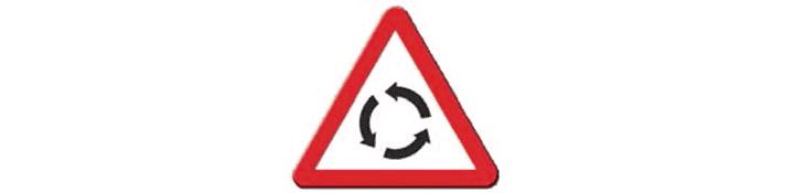 Intersección con circulación giratoria