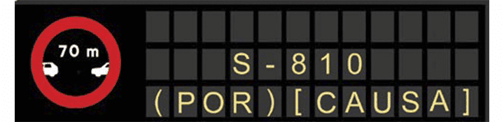 Paneles de mensaje variable de las condiciones de adherencia del pavimento
