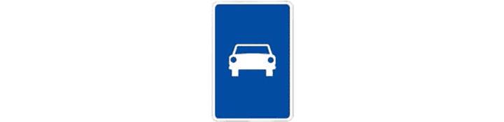 Vía reservada para automóviles