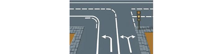 Marcas de guía en la intersección