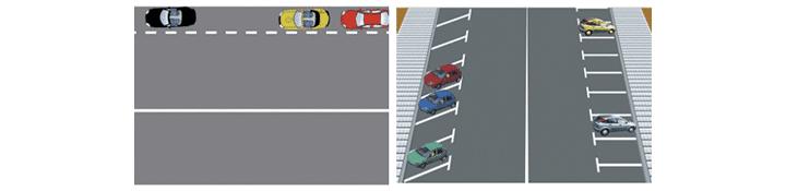 Líneas de borde y estacionamiento