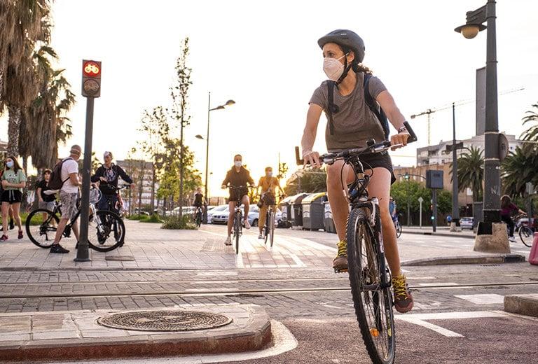 Emergencia y recuperación en bici